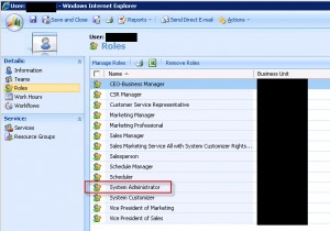 Microsoft Dynamics CRM Security Role Assignment