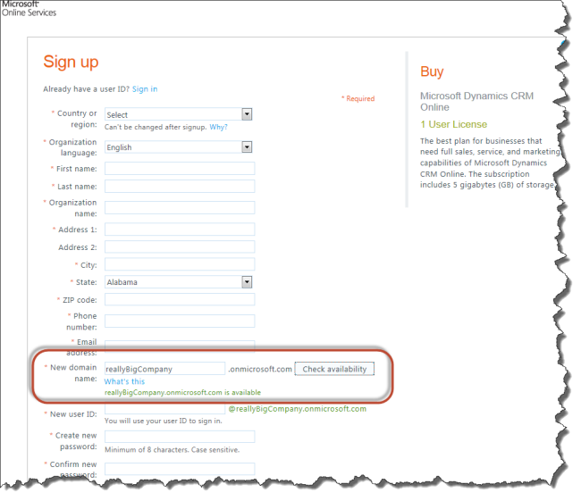 Crm Online Domain Name Check Crm Innovation Microsoft Dynamics