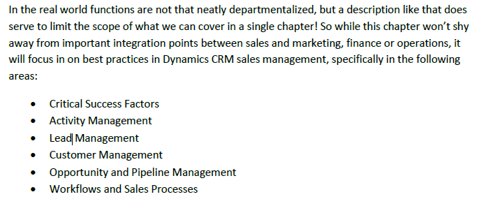 Dynamics CRM 2011 Best Practices