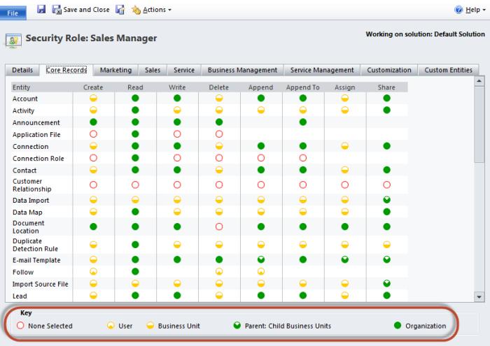 Microsoft Dynamics CRM Security Settings