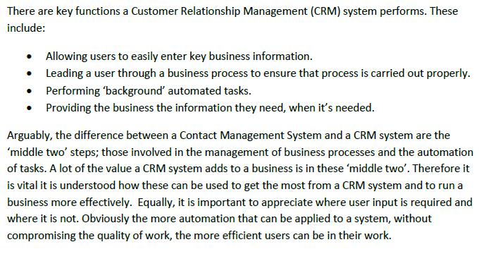 Microsoft Dynamics CRM vs Contact Management Software