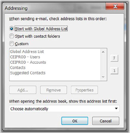 Dynamics CRM Outlook Client Address Book