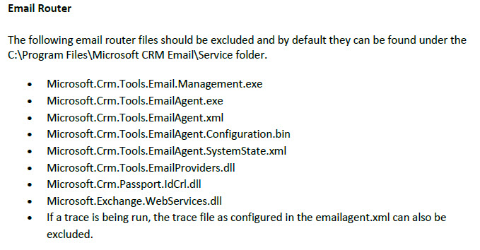 CRM 2011 Email Router Folder Exclusion