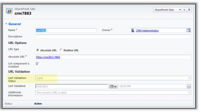 CRM SharePoint Integration Configuration