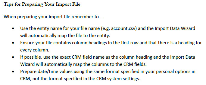 Dynamics CRM 2011 Import Wizard Tips