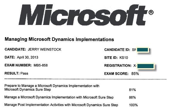Microsoft Sure Step Methodology Exam
