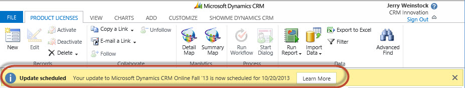 Dynamics CRM 2013 Orion Release