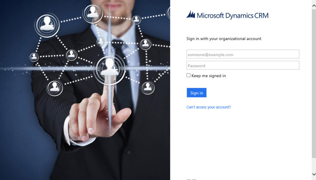 Office 365 Login Screen for CRM Online