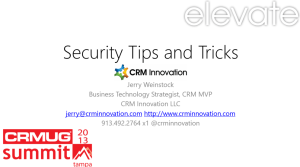 Dynamics CRM Security Tips and Tricks