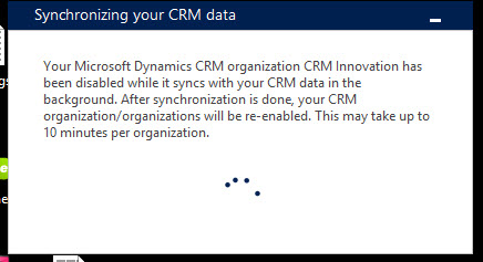 Outlook CRM Add-n Sync Message