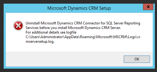 SQL Server Reporting Services Connector Uninstall Warning