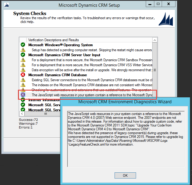 Legacy Code won't work in CRM 2015