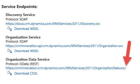 OData Service URL