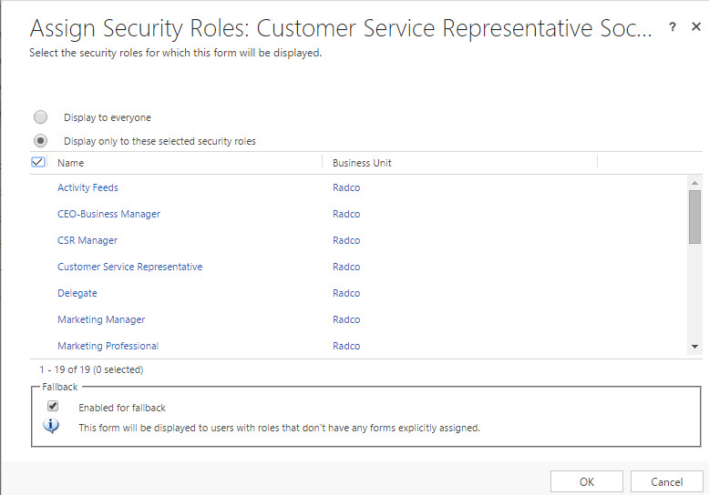 Systems Dashboards - Managing via Security Roles