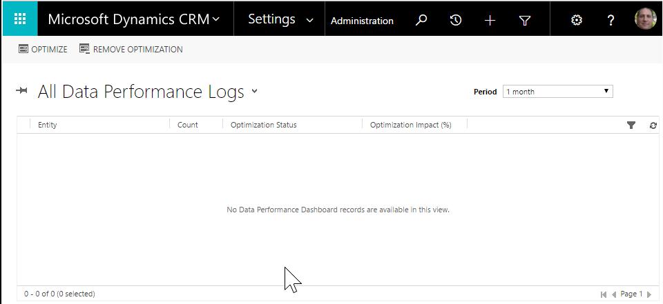 Microsoft Dynamics 365 Performance Grid View