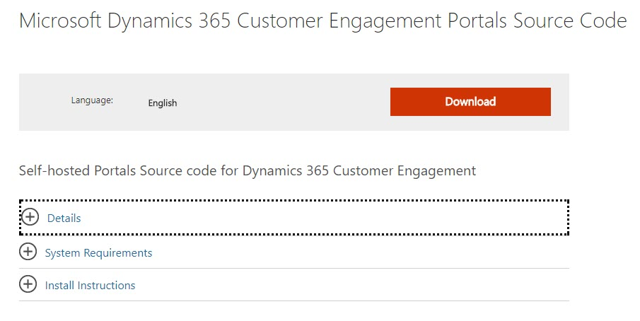 Microsoft Dynamics 365 Customer Engagement Portals Source Code