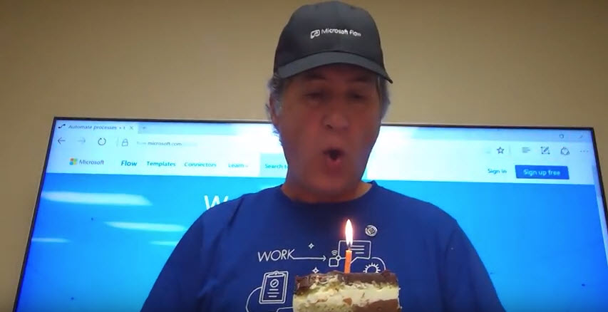 Happy Birthday Microsoft Flow