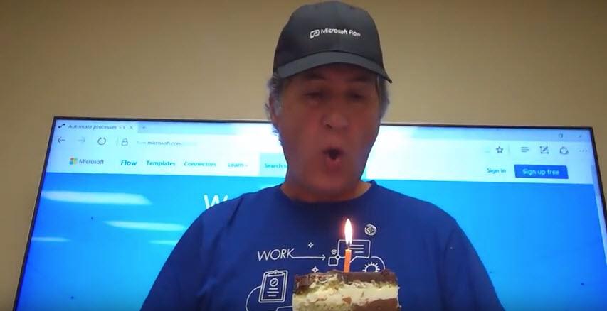 Happy Birthday Microsoft Flow