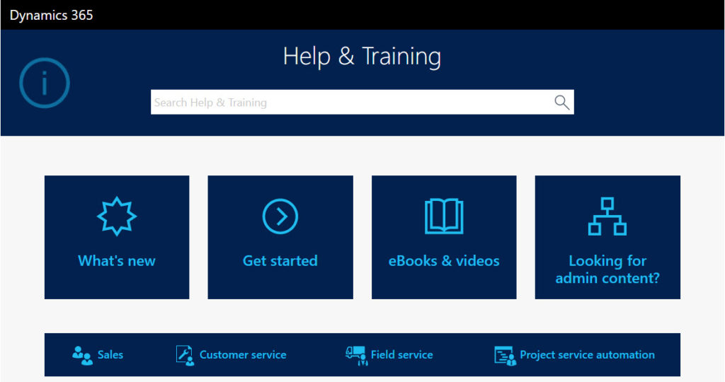Dynamics 365 Help and Training