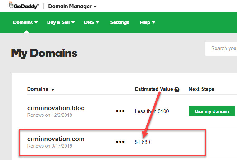 CRM Innovation Domain Value
