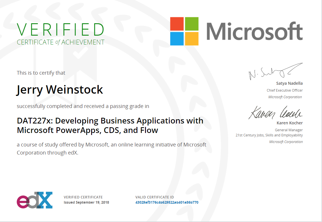 Developing Business Applications with Microsoft PowerApps