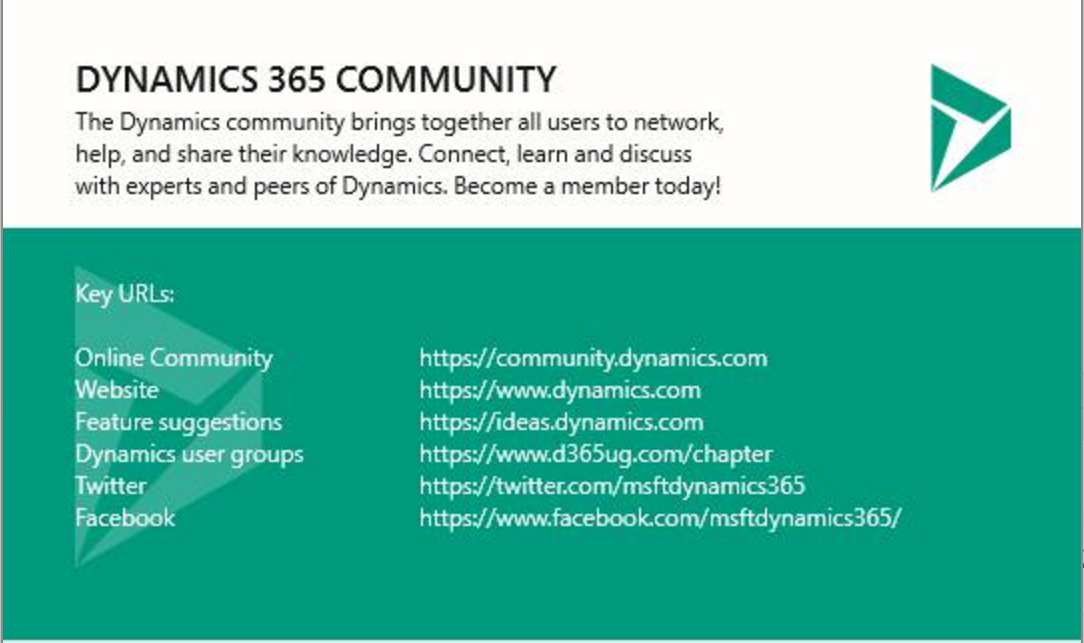 Dynamics 365 Community – Get Involved