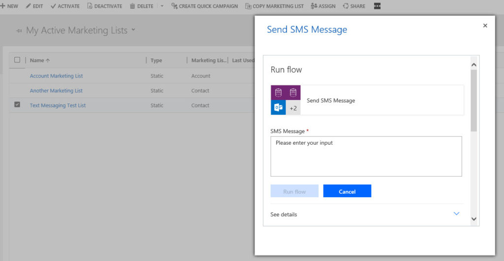 Emulating a Dialog with Microsoft Flow