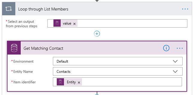 Microsoft Flow Get Contacts