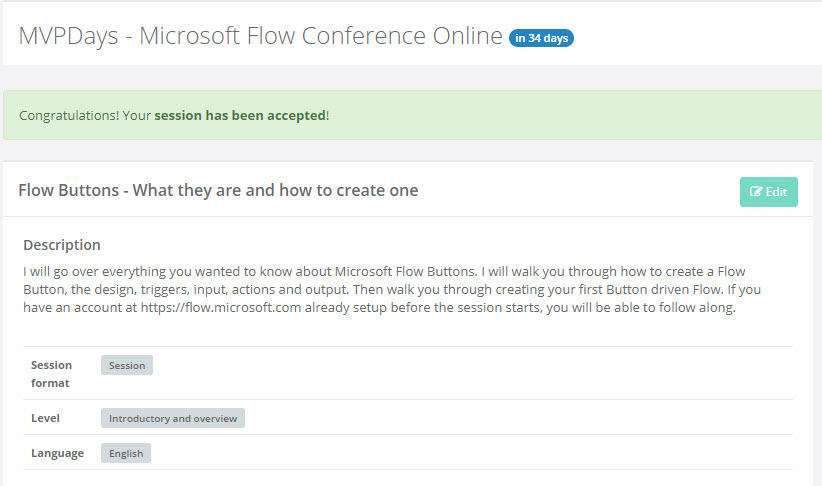MVPDays - Microsoft Flow Conference Online