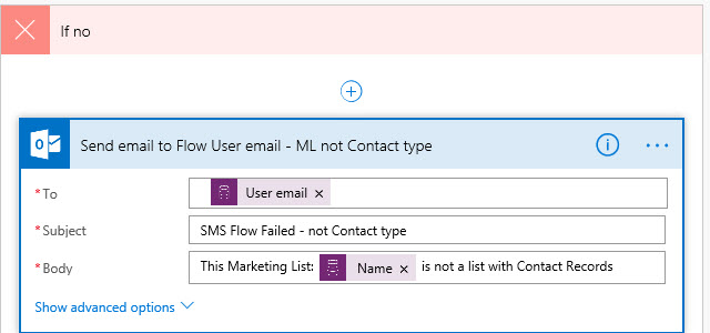Microsoft Flow Condition Check False
