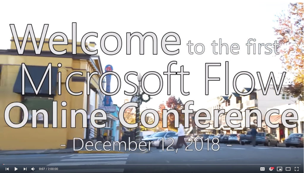 Microsoft Flow Online Conference