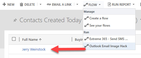 Run Microsoft Flow from Dynamics 365 UI