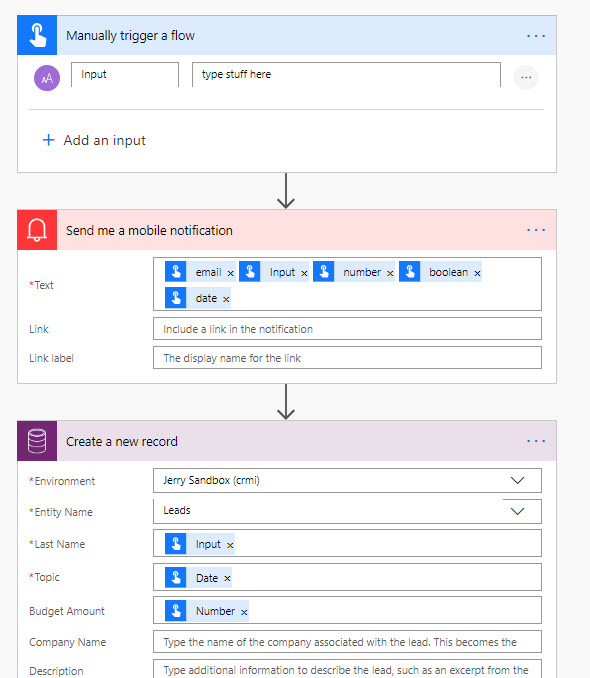 Microsoft Flow Button Input Field Deletion
