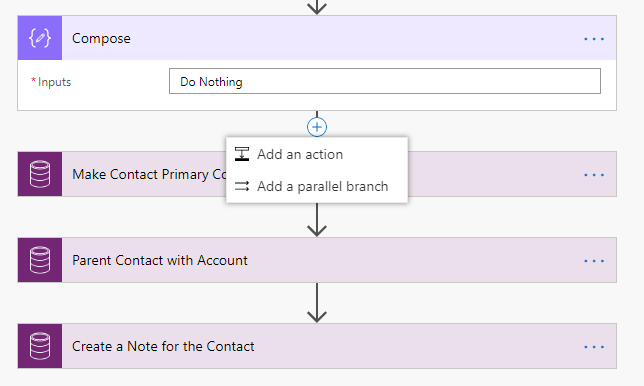 Microsoft Flow Add A Parallel Branch