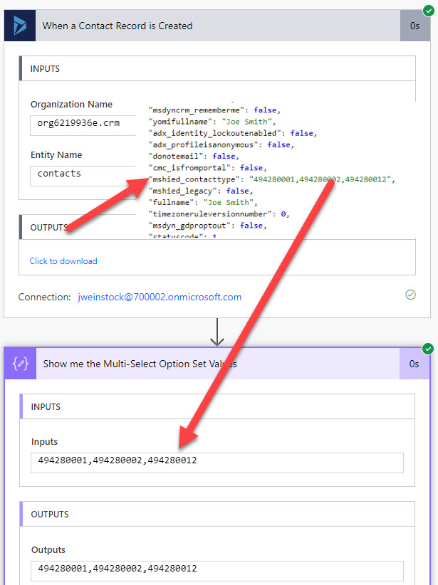 Power Automate Flow Dynamics 365 Connector